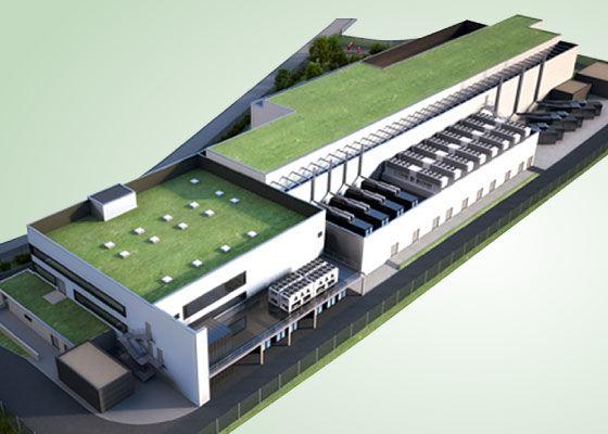 Data centre green rooftops
